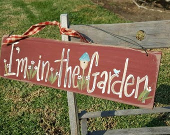 Gardening Gift,rustic Garden Decor,gifts For Mom,primitive Wood Sign,green