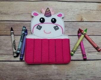 Unicorn  Crayon Holder