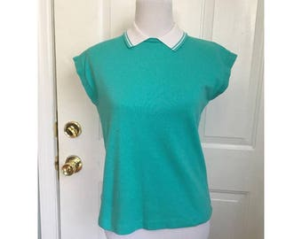 Adorable Teal Collared Shirt