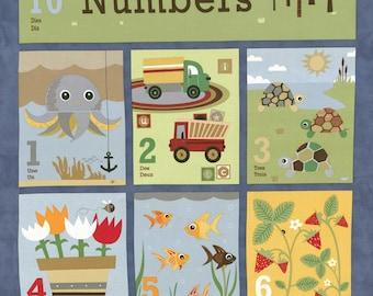 Craft Project, Baby Book, Jenn Ski Fabric, Navy Numbers Panel, Ten Little Things by Jenn Ski for Moda Fabrics, 30500-12