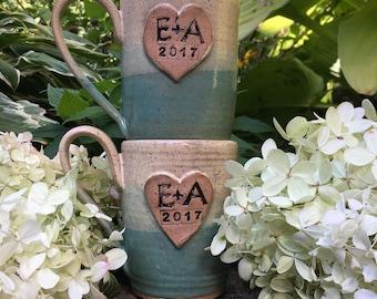 sweetheart custom mug/ wedding favors/ bridal shower favors/ anniversary mugs