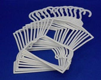 """Mega Hangers!!! BEST BUY  8 dozen (96) total  hangers.   48 """"Outfit Hangers""""  and 48 7"""" hangers for 18"""" doll clothes"""