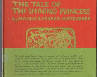 Vintage The Tale of the Shining Princess 1970 Japanese Story History Legend Woodcut Illustrations