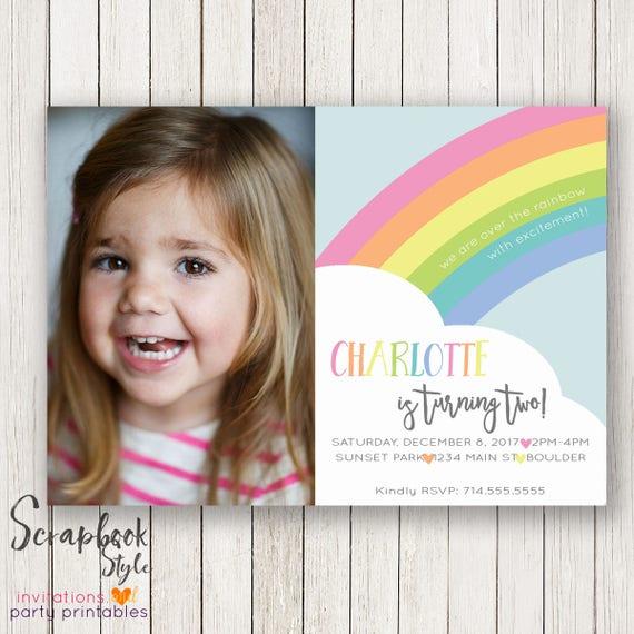 Pastel rainbow birthday invitation rainbow invitations rainbow il570xn filmwisefo Choice Image