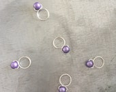 Lilac - Snag Free Knitting Stitch Markers (Medium) - Fit up to size 11 US (8.0 mm)