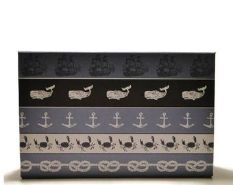 Basic Magnetic Makeup Palette Eyeshadow Empty Organizer Storage book of shadows anothersoul ocean beach navy sail anchor whales