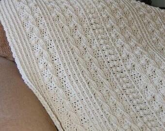 Crochet Aran Afghan in acrylic yarn