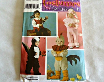 Simplicity 3611 Simplicity Sewing Pattern Toddlers Costumes Sewing Pattern  UNCUT  Sizes 1/2 1 2 3 4
