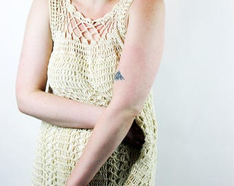 1960s Crochet Maxi Dress