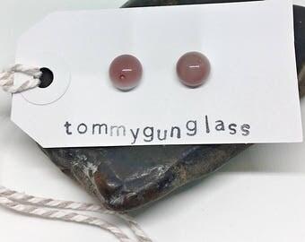 Light Purple Glass Stud Earrings