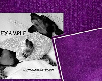 Dachshund Plum Silk Angora OOAK Sweater for Small Wiener Dogs