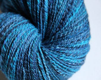 Handspun Yarn: Out of the Blue