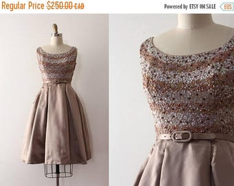 SUMMER SALE vintage 1950s party dress // 50s sequins and silk evening dress