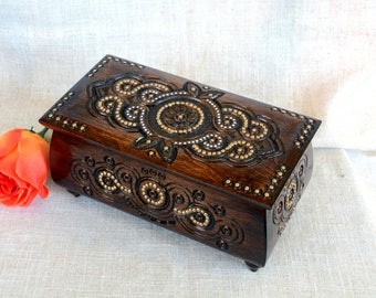 Jewelry box Wooden jewelry box Jewelry box wood Wedding jewelry box Jewelry ring box Jewelry wooden box Jewelry wood box Wooden box dark B38