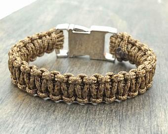 Brown Camo Paracord Bracelet Aromatherapy Essential Oil Diffuser Bracelet
