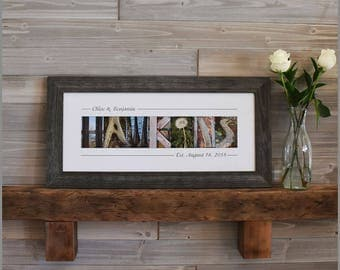 Wedding Gifts for Couple, Unique Wedding Gifts, Personalized Wedding Gifts for Couple, Rustic Wedding Gift, Custom Wedding Gift for Couple