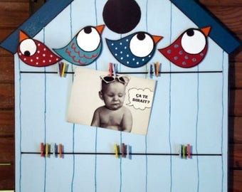 "Picture frames or memory baby and child ""birdhouse"" boy"