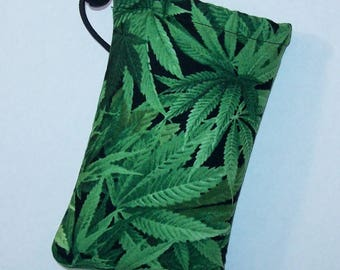 "Pipe Pouch, Cannabis Bag, Pipe Case, Glass Pipe Bag, Marijuana, Padded Pipe Pouch, Pipe Cozy, 420, Pothead, Weed, Stoner - 5"" DRAWSTRING"