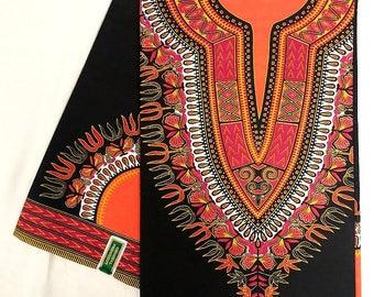 African Print/Wax Cotton/Ankara/Craft Supplies/100% Cotton/African Textile Fabric  (sold per 6 yards)
