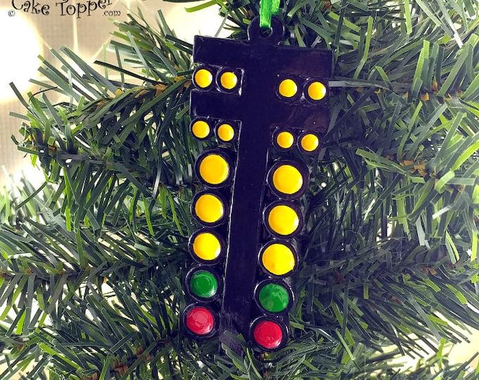 Drag Racing Light Christmas Tree Ornament