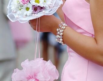 Bridal Drawstring Bag, Wedding Money Purse