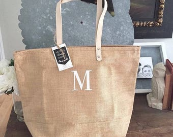Personalized Jute Tote Bag,Beach Bag,Personalized Gift for her, Gifts For Mom,Bridesmaid Totes,Bridesmaid Gifts,Monogram tote Bag,Burlap Bag
