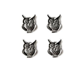 Limited Time Offer Owl Tuxedo Shirt Studs - Shirt Buttons - Men's Jewelry - Gift Idea - Handmade - Gift Box Included