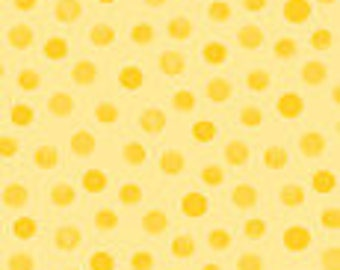 "Ligh Yellow Polka Dot Fabric,""Lewe's Galaxy Dot"" by Susybee! 100% Cotton sold By The Yard, Great for Baby Quilting and Sewing!"
