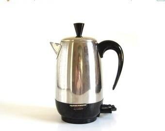 SALE Farberware Superfast Coffee Pot Electric Percolator 138-B Made in USA Coffee Makers