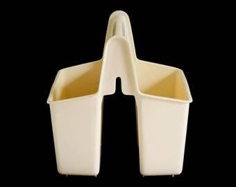 """Silverware Caddy Dishwasher Flatware Utensil Holder Organizer Orange """"Rubbermaid #2908,"""" or No. 927 Made in Taiwan"""" 1970s 1980s Kitchen"""