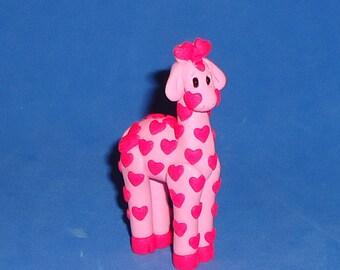 Polymer Clay Pink Giraffe