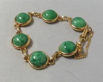 Fashion Vintage Gold Tone Green Bracelet p1290254