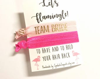 Flamingo Decor, Flamingo Party, Bachelorette Party Favor, Let's Flamingle, pink flamingo, To Have and To Hold Your Hair Back, Flamingo Card