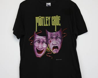 Motley Crue Shirt Vintage tshirt 1985 Theatre of Pain Tour Concert Tee 1980s Nikki Sixx Mick Mars Tommy Lee Vince Neil Band Heavy Metal
