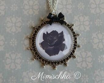 necklace black rose