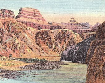 Grand Canyon, Arizona, Zoroaster, Colorado River - Vintage Postcard - Postcard - Unused (Q)