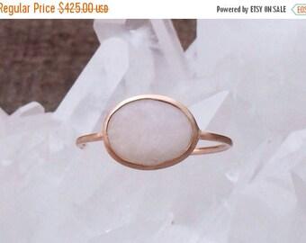 Summer Sale Hamptons ring quartz and solid 18k gold