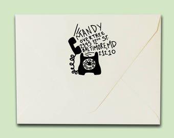 Psychic Phone Address Stamp