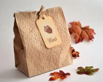 Étiquettes Cadeaux Automnales, Merci, Tag Gland, L'Action de Grâce, Étiquettes Cadeaux Gland, Automne