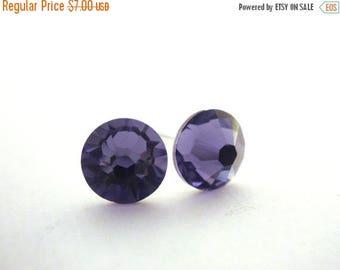 SALE Swarovski Crystal Stud Earrings, Purple Stud Earrings, Crystal Earrings, Purple Earrings, Post Earrings, Tanzanite, Bridesmaid Earrings
