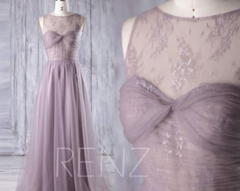 Long Dark Mauve Bridesmaid Dress, Sweetheart Lace Illusion Wedding Dress, A Line Evening Gown, Open Back Prom Dress Floor Length(LS165)