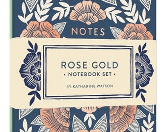 Chronicle Books Collaboration Set of Two Lined Rose Gold Notebooks