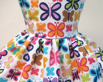 Butterfly Jewels, Sleeveless Dress for your 18 Inch Doll B
