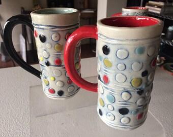 Small mug in polka print