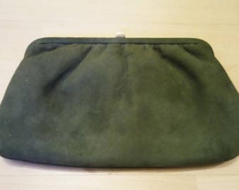 Vintage Khaki Green Clutch Bag