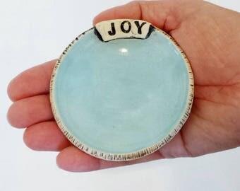 JOY! | Handmade Ceramic Jewelry Dish | Trinkets | EXPRESSives