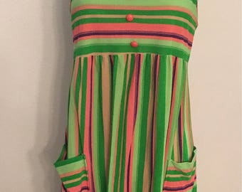 Eighties Summer Dress  Med/Leg Coverup