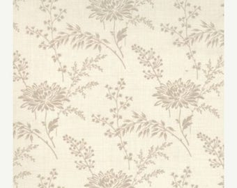 12% off thru July FRENCH GENERAL FAVORITES Moda by the half yard cotton quilt fabric oyster flowers on pearl cream 13527-14