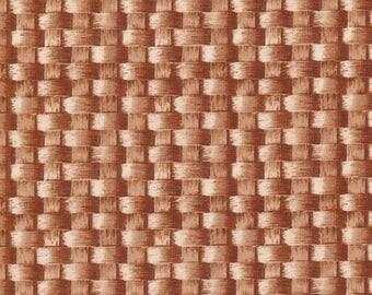 20% off thru 2/22 BASKET WEAVE  by 1/2 yard RJR fabric Farmer's market 2012 1290-01 tan
