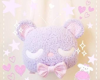 Kawaii Teddy Bear Plush Purse - Pastel Bear Kawaii Plush Purse, Lolita Purse